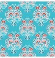 Winter seamless damask doodle design vector image