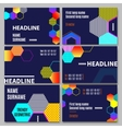 Geometric Business Cards Set vector image