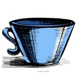 Cup isolated vector image vector image