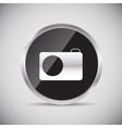 Shine glossy computer icon vector image vector image