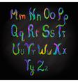 Alphabet multicolored vector image
