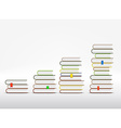 Stacks of books are in the form of a graph vector image