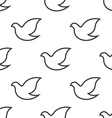 dove seamless pattern vector image