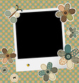 Vintage design background for scrapbook with photo vector image
