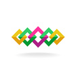 Colorful square frames links logo vector image