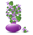 bunch of wild violet vector image vector image