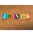 Join Us Concept vector image vector image