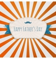 Fathers Day Holiday blue and white festive Emblem vector image