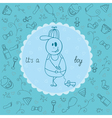 Baby card Its a boy theme vector image
