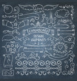 big collection of chalkboard elements vector image