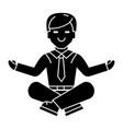 businessman relax - meditation icon vector image