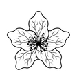 cute japanese flower icon vector image