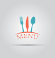 cutlery isolated colored menu logo template vector image
