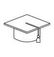 graduate cap kid education school vector image