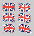 Great Britain Flag Set national flag of British vector image