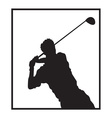 Man playing golf design vector image