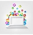 Notebook icon Laptop symbolApplication button vector image