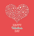 red valentines day postcard vector image