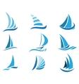 Sailboat symbol set vector image