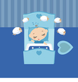 Sleeping little boy vector image