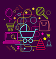 Symbols of selection and purchase of childrens vector image