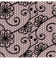 Seamless lace pattern on pink background vector image