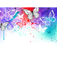 Butterflies on Watercolor vector image