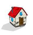 Cute house sketh vector image