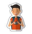 young man character with summer clothes vector image