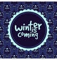 Abstract winter frame pattern vector image