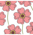 cute and beautiful flower pattern background vector image
