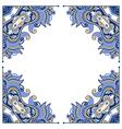 ornate floral frame vector image vector image