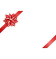 Red ribbon with bow isolated vector image