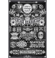 Vintage Hand Drawn Graphic Banners and Labels on vector image vector image