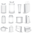 Blank Big Set of Plastic Packaging Bottles vector image