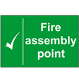Fire assembly point sign vector image vector image
