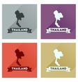 Concept flat icons with long shadow Thailand map vector image
