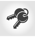 black keys icon vector image