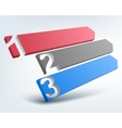 Abstract 3d numbered lines vector image