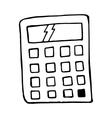 calculator cartoon doodle isolated element vector image