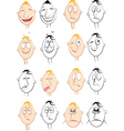 face characters vector image
