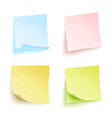 paper work notes isolated set sticky note vector image