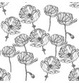 Seamless pattern with poppy flowers vector image
