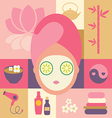 spa and beauty- face vector image
