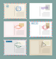 vintage postcard template set vector image