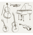 musical set vector image