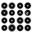 Set of different circular saw blades vector image vector image