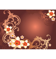 elegant floral backgorund vector image vector image