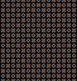 Checkered black seamless pattern with cross and vector image vector image
