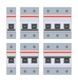 Circuit Breakers Set on White Background vector image